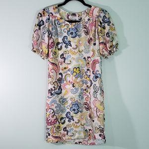 See by Chloe Silk Print Shift Dress